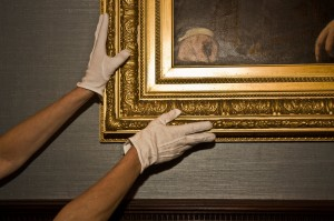 Handling a painting