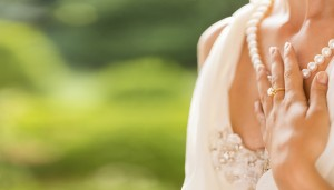 Bride showing her jewelry