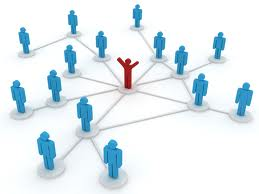 Network image of person with other people