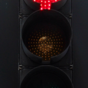 Red traffic light